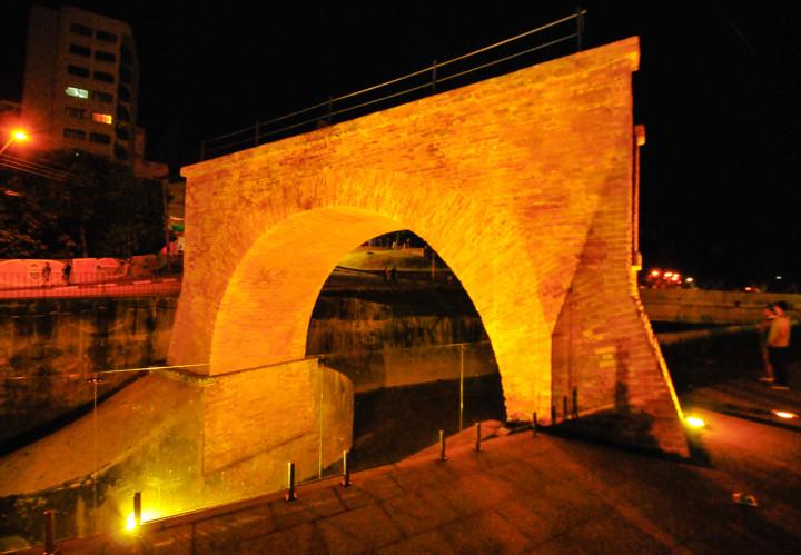A Ponte Torte com sua nova iluminação: um símbolo para a cidade