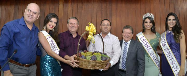 Corte foi recebida pelo presidente da Câmara, Marcelo Gastaldo