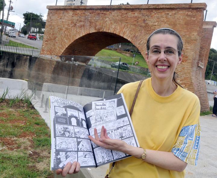 Ignez de Castro, a Dadí: História em quadrinhos relata a luta contra a destruição da Ponte Torta