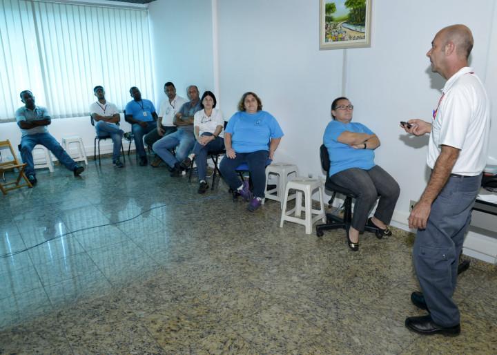 Agentes participaram de treinamento nesta terça-feira (5)