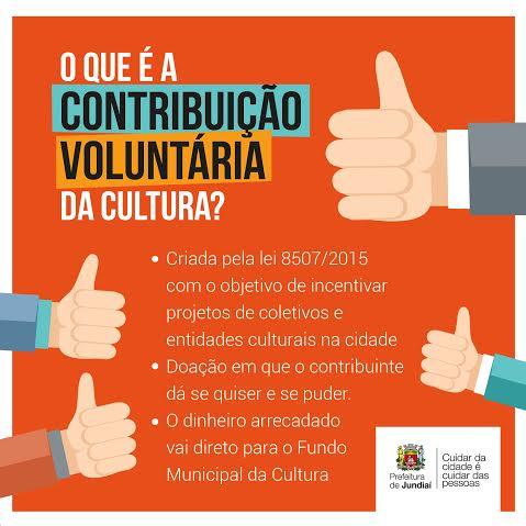 O que é a contribuição voluntária da cultura