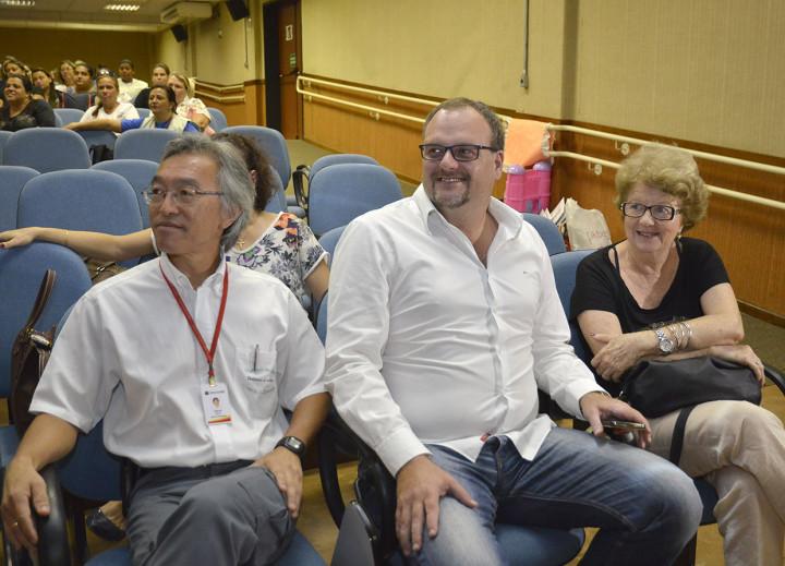 Carlos Ozahata, Casarin e Lígia Bestetti: trabalho conjunto