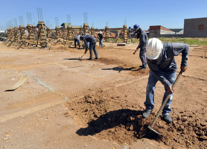 Creche em construção no Fazenda Grande