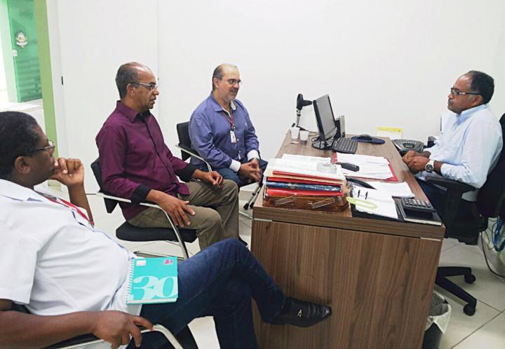 Reunião com Edilson Carvalho, presidente do Sitac
