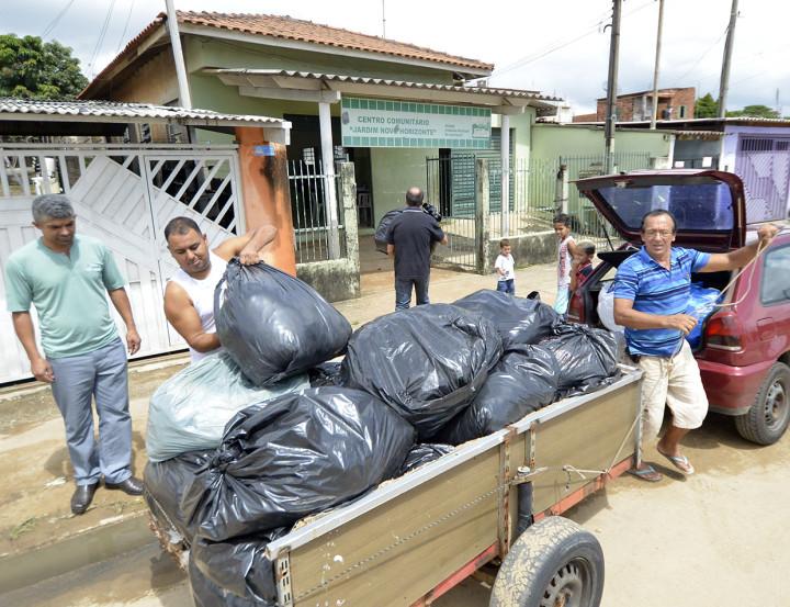 Centro comunitário do Novo Horizonte também recebe doações
