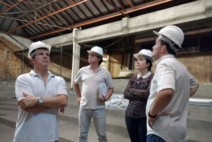 Secretários em visita técnica ao Centro das Artes