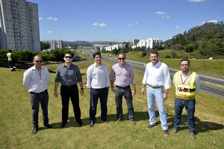 Secretário de Obras e engenheiros da AutoBAn vistoriaram local do anúncio das obras
