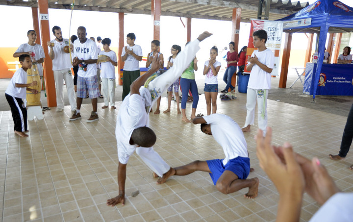 Apresentações de capoeira fazem parte da programação cultural