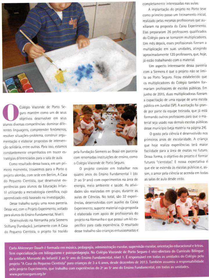 Despertar o gosto pela ciência nos primeiros anos de escolaridade é o foco do projeto