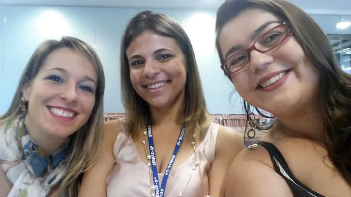 Ana Lívia Reis (Senac), Mariana Costa (Sebrae) e Marcela Moro (Prefeitura),