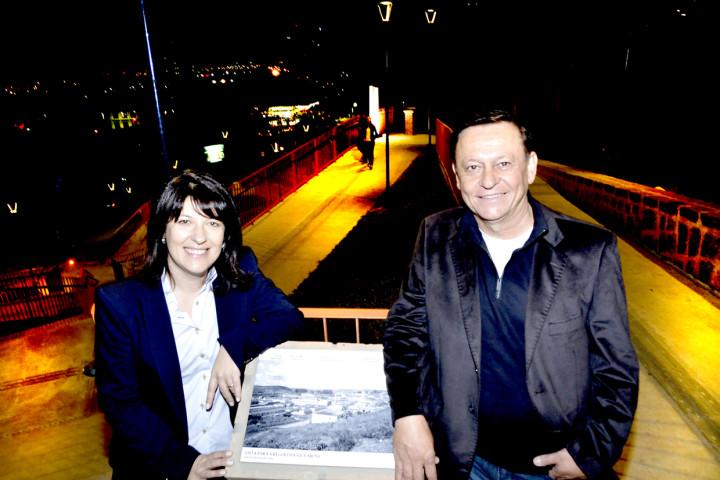 Secretaria Daniela da Camara Sutti e prefeito Pedro Bigardi comemoram transformação do local