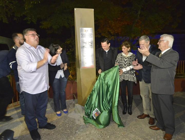 No discurso de inauguração, o prefeito citou a importância de revitalizar o Centro