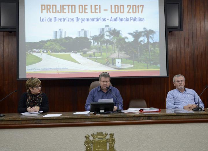 Audiência pública tratou do orçamento da cidade para 2017