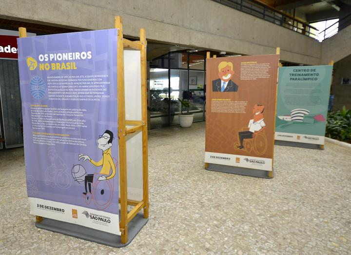 O acervo conta com 22 painéis que trazem a história dos Jogos Paralímpicos
