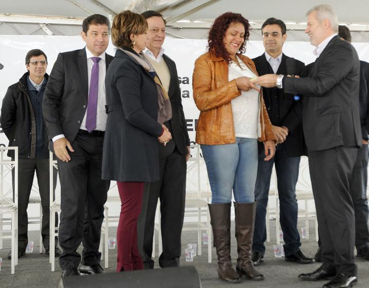 Rosângela representou todos os moradores no evento