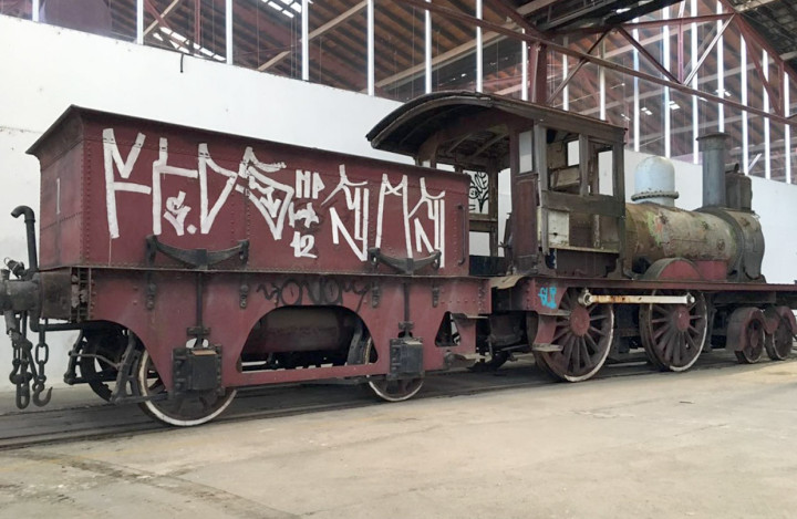 Transferência visa proteger a locomotiva de ações climáticas e de vandalismo