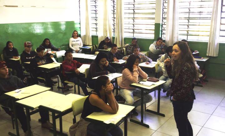 No Cecap, alunos participaram de roda de conversa