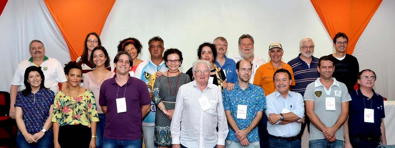 Parte dos integrantes do conselho durante a Conferência da Cidade