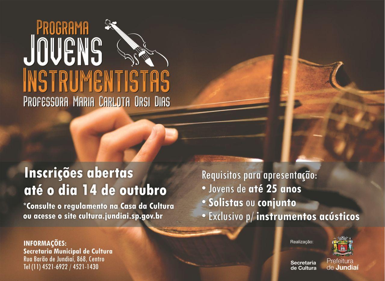 O Programa está em sua 31ª edição na difusão e fomento da música instrumental em Jundiaí e região
