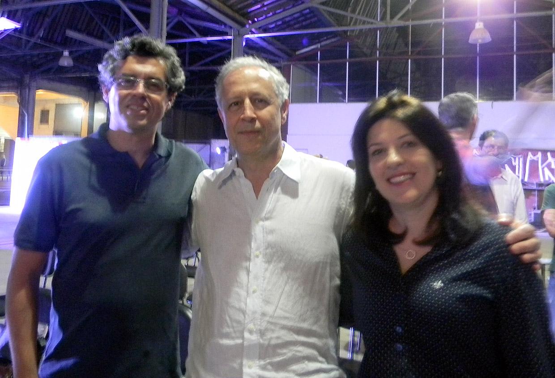 Secretária Daniela da Camara, coordenador Décio Pradela e arquiteto Marcelo Ferraz