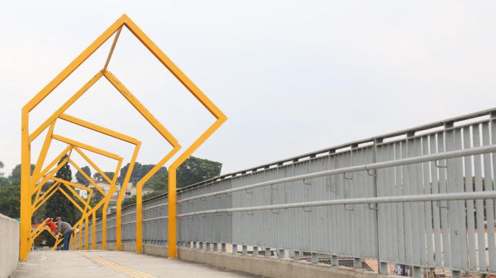 Estrutura faz parte do projeto urbano de requalificação do viaduto que privilegia o pedestre
