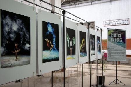 Obras expostas na Sala Jundiaí, no Complexo Fepasa