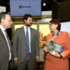 Prefeito Luiz Fernando e gestor Parimoschi conversam com Tânia Consentino, da Microsoft