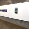Corredor da Galeria de Arte com quadros expostos