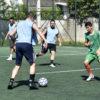 Jogo de futebol em quadra do Complexo Esportivo