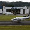 Aeronave pousa no aeroporto de Jundiaí