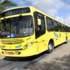 Foto de ônibus amarelo na rua