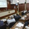 Plenário da Câmara Municipal com vereadores sentados e gestor no parlatório