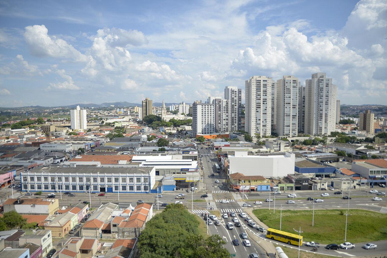 Foto panorâmica da região da Vila Arens, em Jundiaí