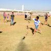 Crianças brincam no CECE José De Marchi