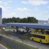 ônibus em terminal