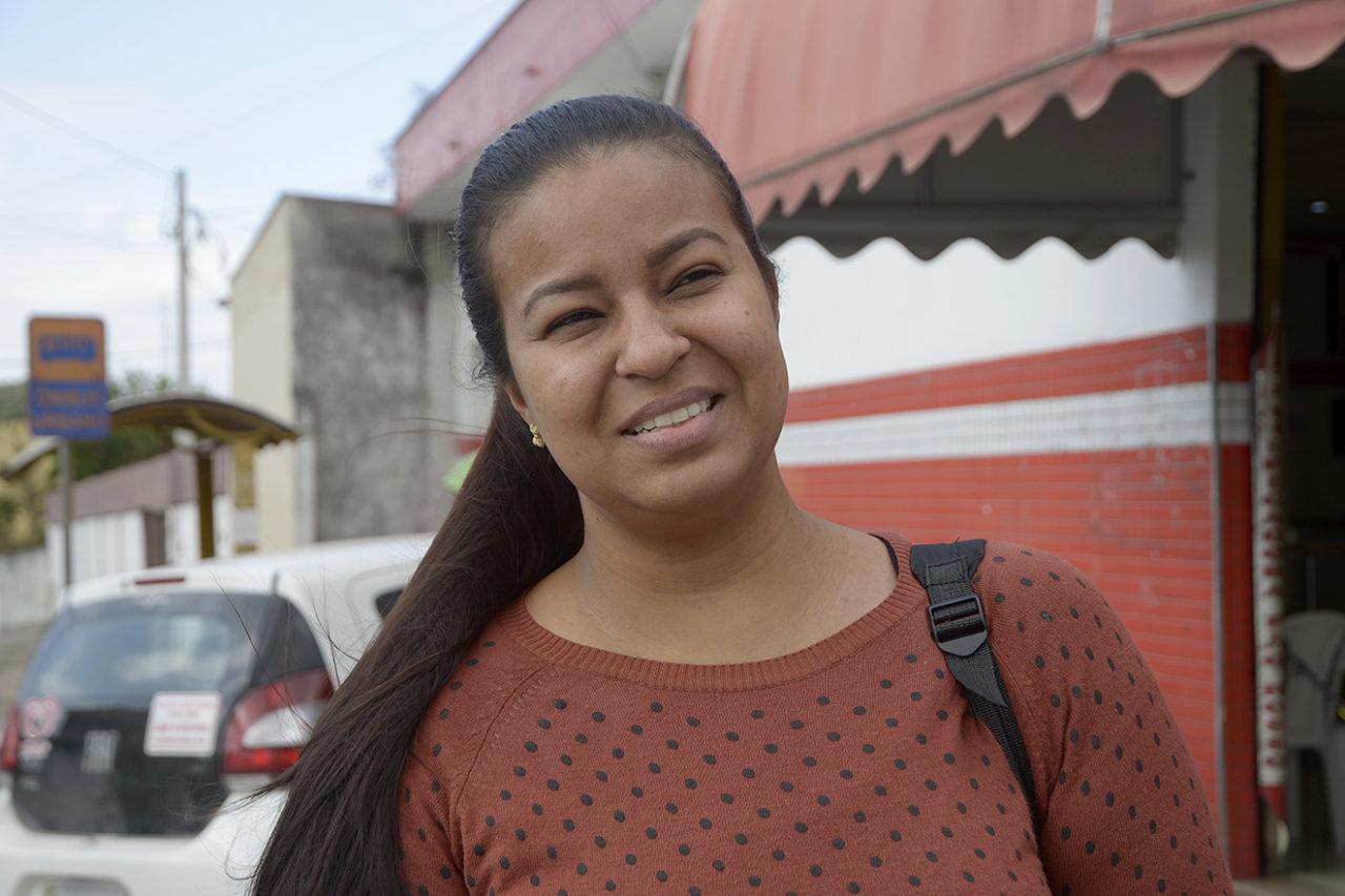 Gezislaine Andrade destacou que o bairro é movimentado