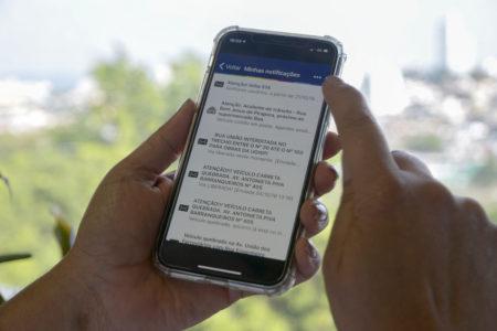 Serviço Push, do APP Jundiaí, informa ocorrências de trânsito para facilitar a vida do usuário