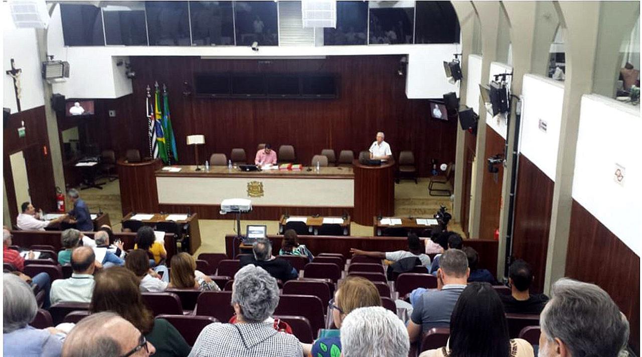 Moradores de vários bairros acompanharam a audiência desta quarta (16)
