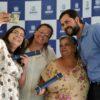 Prefeito Luiz Fernando e alunas do Fundo Social