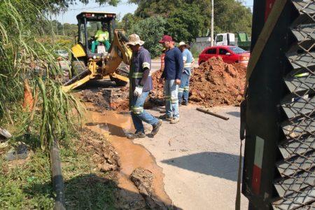 DAE remaneja rede de água no bairro Santa Gertrudes