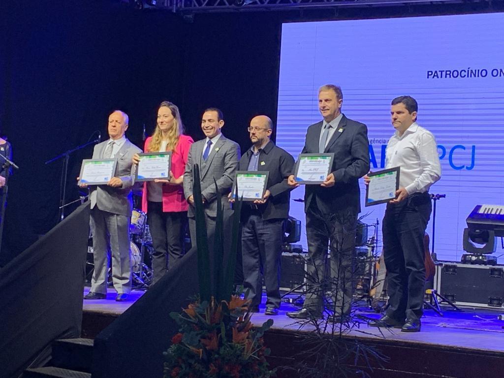 Premiação ocorreu em Campinas, em comemoração aos 30 anos do Consórcio PCJ