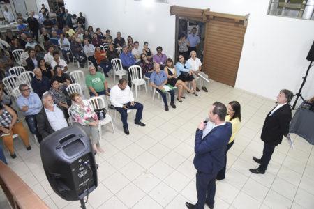 Gestor de Promoção da Saúde, Tiago Texera, fala durante prestação de contas no Medeiros