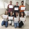 Sete alunos receberam seus certificados na tarde desta segunda-feira (16)