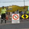 Orientação é que os motoristas evitem transitar pela Av. Antônio Frederico Ozanam e rua Osvaldo Cruz