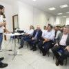 Chefes do Executivo de Louveira e Itupeva e empresários ouviram as palavras do prefeito Luiz Fernando