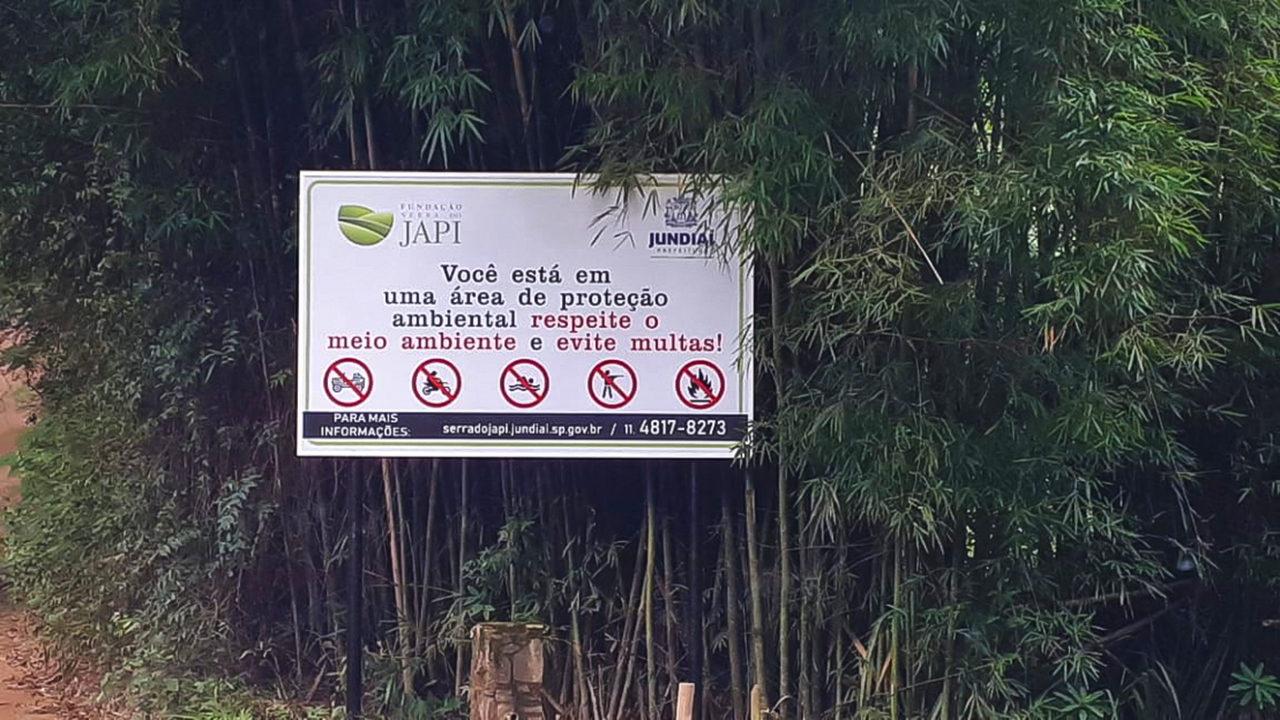 Fundação Serra do Japi vai colocar mais placas de orientação nos próximos dias