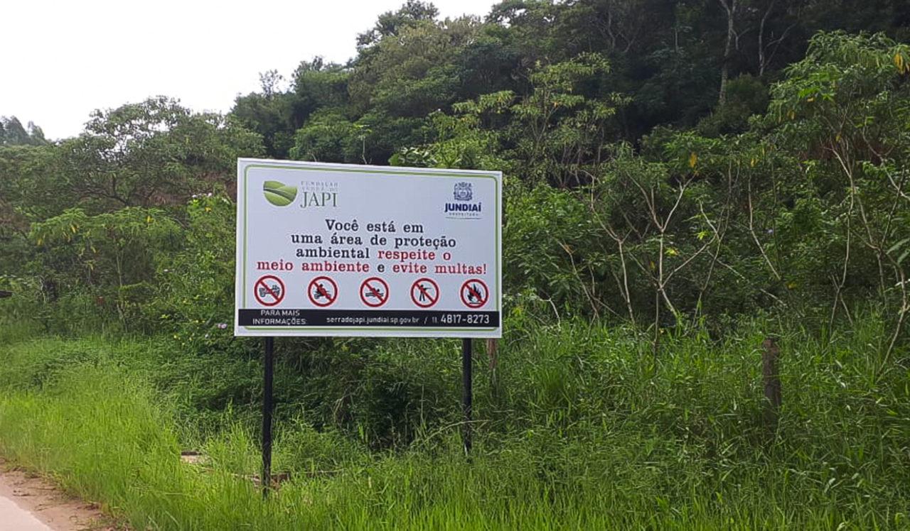 Dez placas de orientação foram colocadas na Serra do Japi