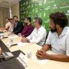 "Luiz Fernando Machado fala aos demais presentes ao evento: ""Acredito no potencial do esporte para transformar vidas"""