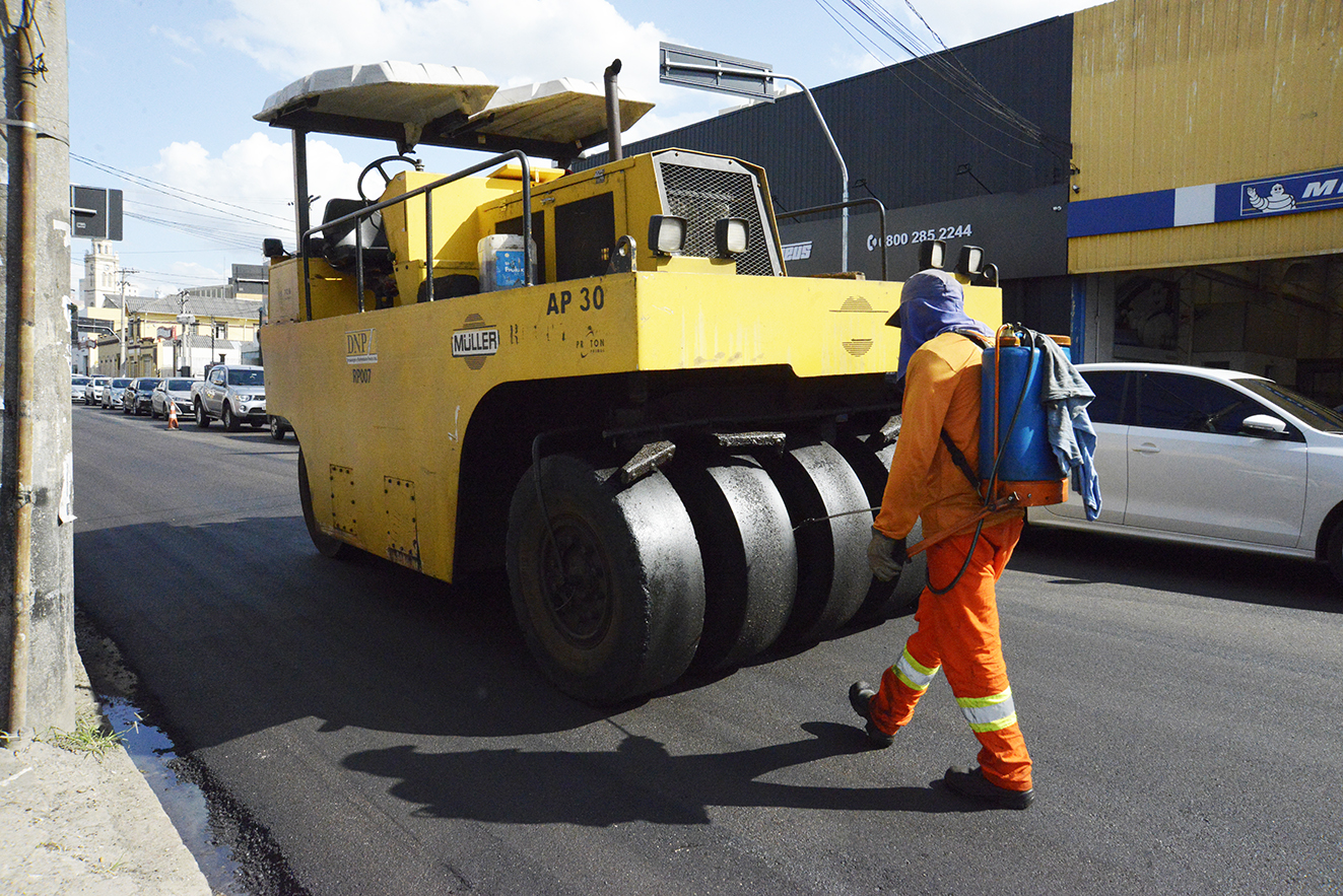 Prefeitura de Jundiaí vai investir R$ 494,3 mil no recapeamento de mais de 13 mil metros quadrados da Rua Dr. Cavalcanti