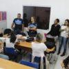 GMs do programa Educavi conversam com as professoras da EMEB Anna Rita Alves Ludke, na Vila Alvorada